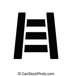 railway glyph flat icon