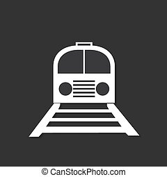Railway icon isolated on dark background