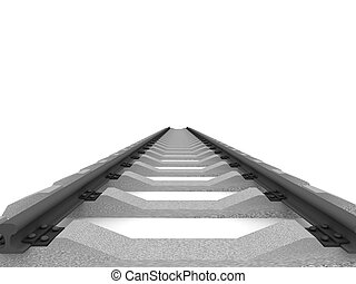Railway isolated on white