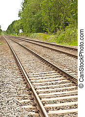 Railway lines in the country side