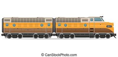 railway locomotive train vector illustration