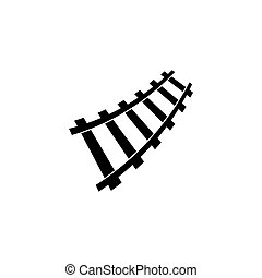 Railway logo , vector icon illustration