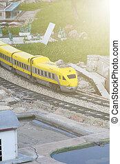 railway., model, miniatuur