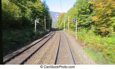 Railway motion view