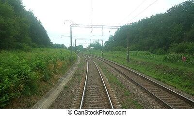 Railway moving train