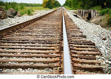 Railway on a sunny day