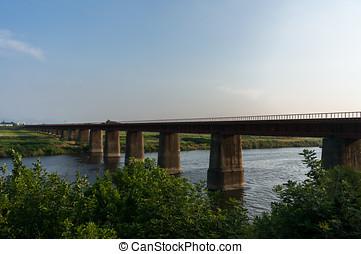 Railway over farm land