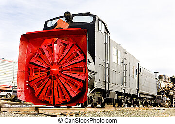 railway plough, USA
