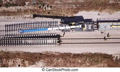 railway., rail, réparation, process., entretien, pistes