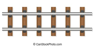 railway rails and wooden sleepers vector illustration