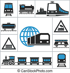 Railway. Set icons