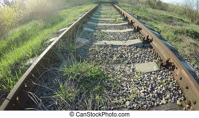 Early spring chamber on railway siding