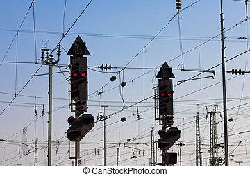 Railway Signal and Overhead Wiring