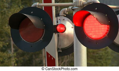 Railway signals - Flashing signals at level railway crossing