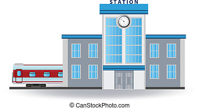 Railway station. Vector for you design