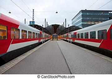 Railway station in Helsinki - Central railway station in...