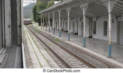 Railway station in old Georgian city.