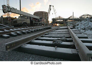 railway station - The Ladoga station during construction....