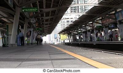 Railway station timelapse
