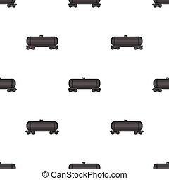 Railway tank car. Oil single icon in cartoon style vector symbol stock illustration web.