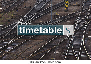 Railway timetable web search box