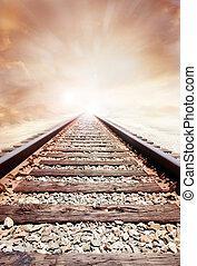 Railway track and sky