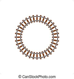 Railway Track - Circle train railway track vector...