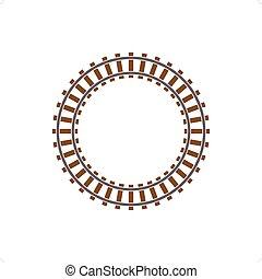 Railway Track - Circle train railway track vector...