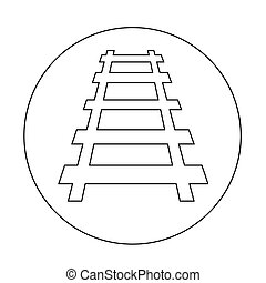 Railway track icon illustration design