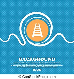 Railway track icon sign. Blue and white abstract background flecked with space for text and your design. Vector