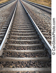 Railway track - Low angle view of railroad track