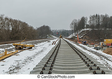 Railway track reconstruction works