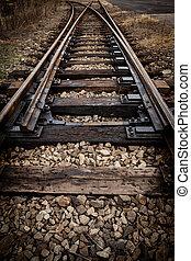 Railway tracks - Detail shot of railway tracks
