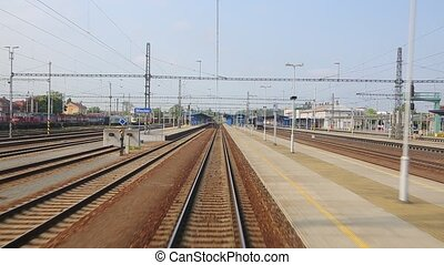 Railway tracks motion