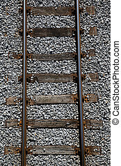 Railway tracks on a uniform background. Logistics, transport and journey concept.