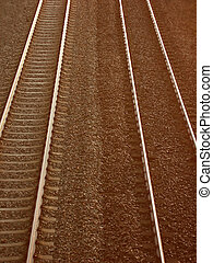 Railway tracks with an in camera effect