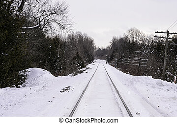 Railway Tracks set in Snow