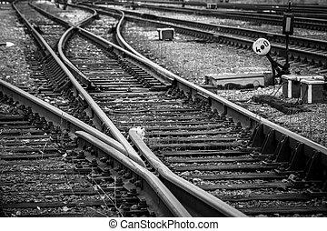 Railway tracks - Close up view of railway tracks