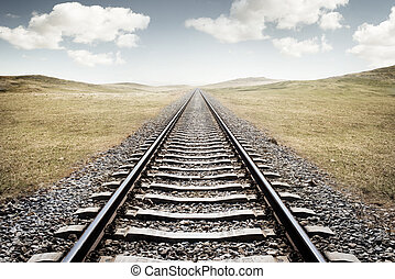 Railway Tracks. A long journey ahead.