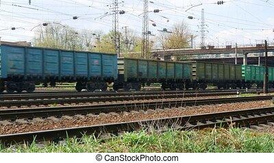 Railway train wagon railroad 4k video
