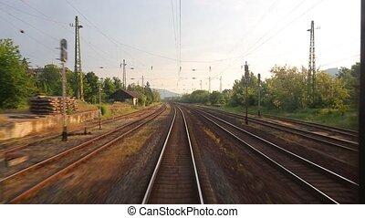 Railway travel view