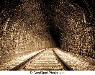 Railway Tunnel - a railway tunnel in Siberia, Russia