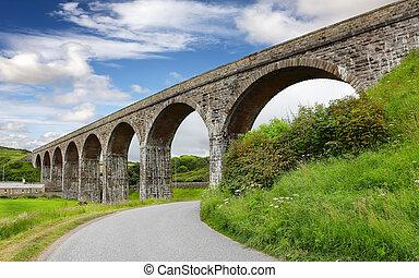 Railway Viaduct in Cullen Scotland