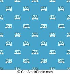 Railway wagon pattern seamless blue