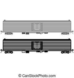 Railway wagon refrigerated