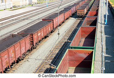 Railway wagons for transportation of coal