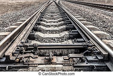 Railway. Ways to go to the horizon