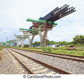 railways and sky train structure construction use for government