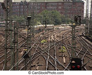 Railways in twilight