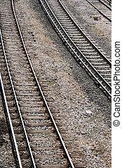 railways train railroad courve detail transportation...